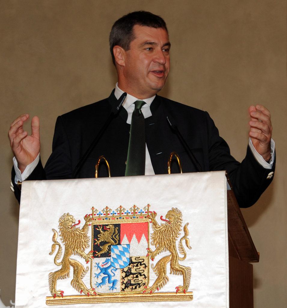 2015: Bayerns Finanzminister Markus Söder ber der Verleihung des neuen Heimatpreises.